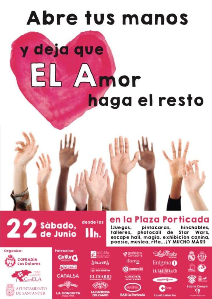 Abre tus manos y deja que EL Amor haga el resto @ Plaza Porticada - Santander